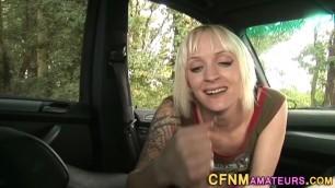 Cfnm amateur sucks in car Marvelous Blowjob