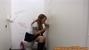 Fully clothed harming schoolgirl sucking hard dick