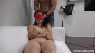 Klara 8940 Sucks cock and massages his hands on casting