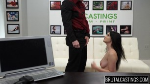 E43 Kacey Quinn With a girl is toughly treated and fucked at a casting
