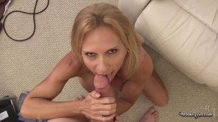 Brooke Tyler Big Tit Fucks her and pours her cum on her breast POV