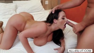 babe Angela White gets pussy and anal fucked by Keiran Lee