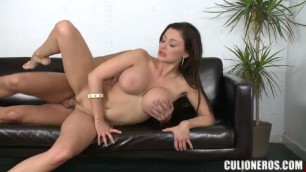 Fiery carmella Fucks with a man on the couch