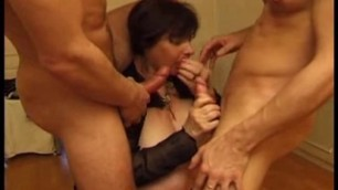 French matures hard anal in amateur group sex