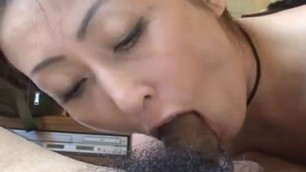 Amateur japanese milf give POV blowjob
