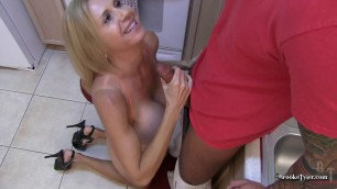 Brooke Tyler Kitchen Fuck with a busty blonde