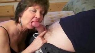 Granny give mature blowjob