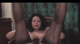 Danica Collins dildo in her plump pussy Danica orgasms