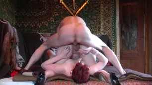 THREESOME AT HOME BY AMATEUR RUSSIANS SEX