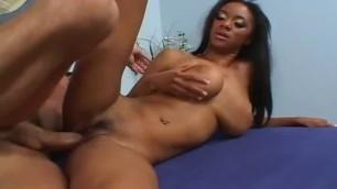 Teen ebony on big cock after blowjob