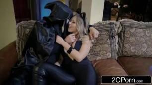 Horny Zoey Monroe Sucking Big Dick Behind Her Boyfriends Back on Amazing Halloween