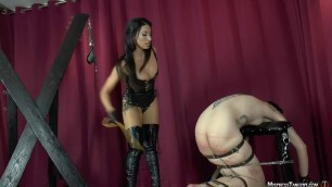 Mistress Tangent Much Deserved girl is beaten very hard