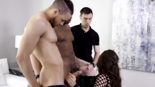 Depraved Bitch Kendall Woods Gets Gangbanged 1