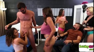 Amazing foursome dormsex caught by manager