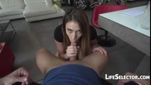 The girl Angell next door needed a quick deep dicking