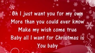 Appealing Mariah Carey All I Want For Christmas Is You
