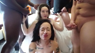 Pretty Elaine 1st Gangbang and Bukkake Part 2