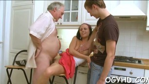 Crazy old fucker is happy to slam juicy twat of a young girl Maree