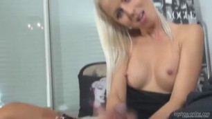 Lovey dovey Blonde Lynna Nilsson First time Footjob