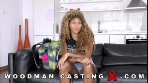 Venus Afrodita curly girl fucks on porn casting