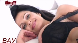 Denise Milani playful woman beckons with her movements Bedroom