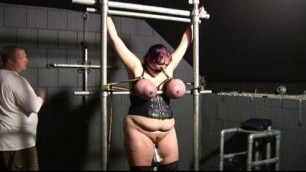 bbw bondage Her big breasts are very tight