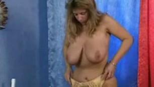 Fantastic old woman Jordana get naked Naked his tits