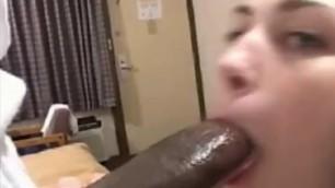 BBC Girl A cute girl sucks a huge black dick htm