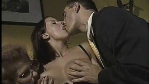 Naughty Boss Bangs Two Willing Secretaries