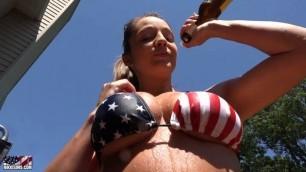 Nikki Sims Merica On The Pool