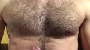 Straight Hairy Guy Jerking Off