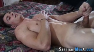 Straight Hunk Solo Jerks Off