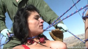 Humilated Hardcore Porn Bondage And Humiliation At The Roadside