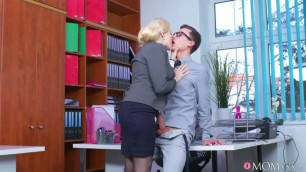 Busty Office Milf Angel Wicky Seduces Young Guy While Working Big Tits Beautiful Girls