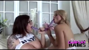 Blonde And Brunette Lesbian Cosplay And Fuck Hardcore Porn Xhamst