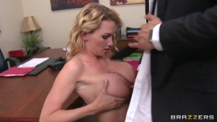 Blake Rose sex on office with boss hot milfes