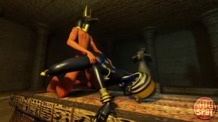 Pharaoh fuck your girl right in the pyramid Porno cartoon HD