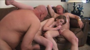 Blowjob from Faye Reagan for two man