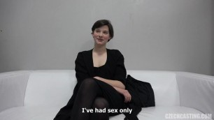 Czech girl Anna on casting Legal Teen Hairy Casting Posing