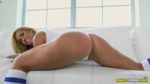 Kelsi Monroe worked her big ass and showed her amazing spread