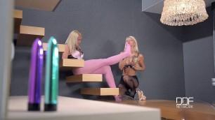 The Pantyhose Mistress Toe Sucking Anal Escapade Lesbian Foot Ass Licking Toys Anal Play Pantyhose Kathi