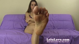Lelu Love likes to spit on her soft feet