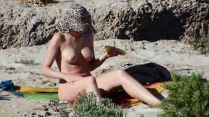 20 year old Nudist babe on Greek Beach Public Porn