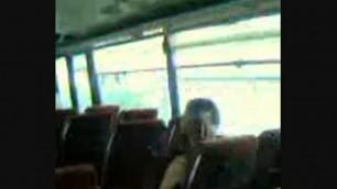 masturbation in the Public Bus Girl crazy