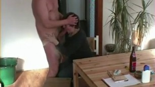 Mature sucks daddy cock