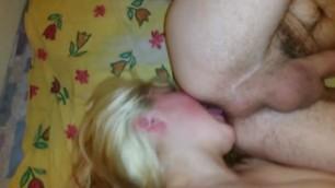 Bbw get anal white girls gives a deep ass licking rimjob