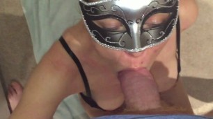 Slutty moms gets her pussy sprayed with cum