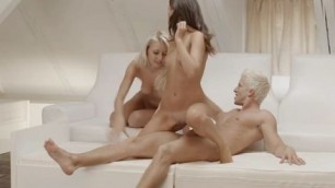 A little threesome with two sluts girlfriend busty