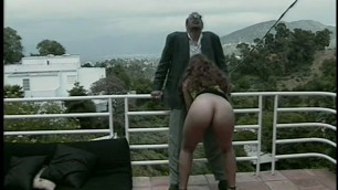 Horny mom kari redheaded slutty milf bangs her black pimp daddy out on a balcony hardcore