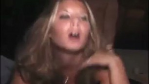 Drunk college lady at party getting fucked uncut